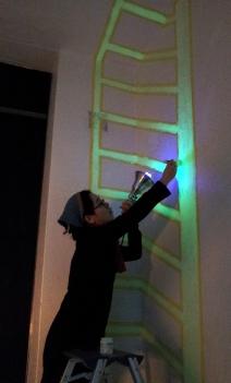 축광페인트를 이용한 공간속의 드로잉, 김영희