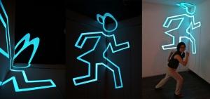 EL-sheet Light Drawing Installation