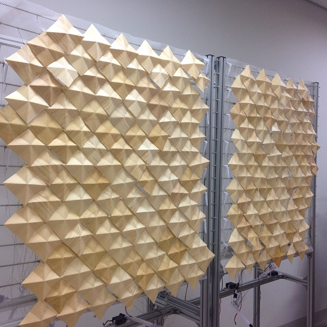 repair work in progress - each scales are made of wooden veneer papers- hand folded.